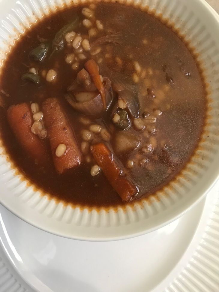 Beef barley soup from left over pot roast